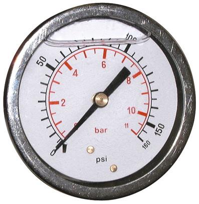 700 BAR 10000 PSI 63mm Pressure Gauge Back Entry Glycerine Filled